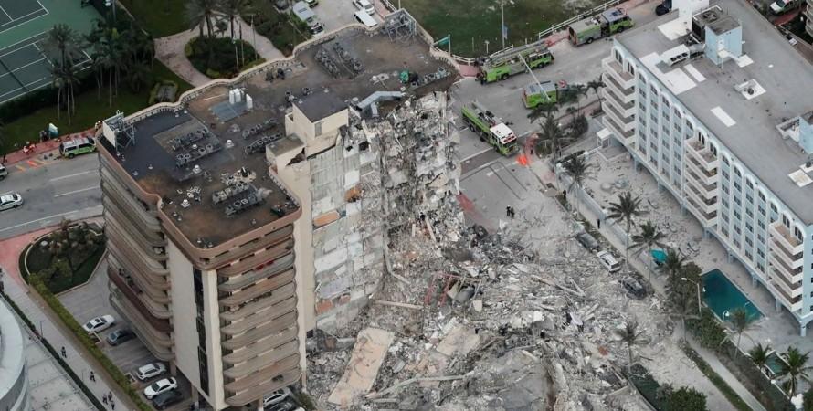 Майами, дом, обрушение,