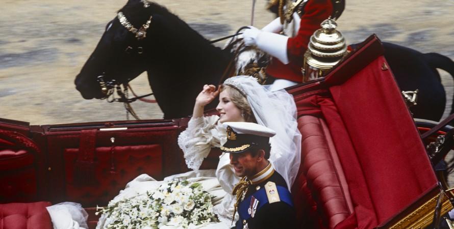 принц Чарльз, Диана Спенсер, свадьба, фото