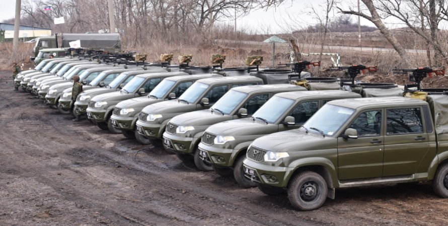 автомобили боевиков, обсе на донбассе