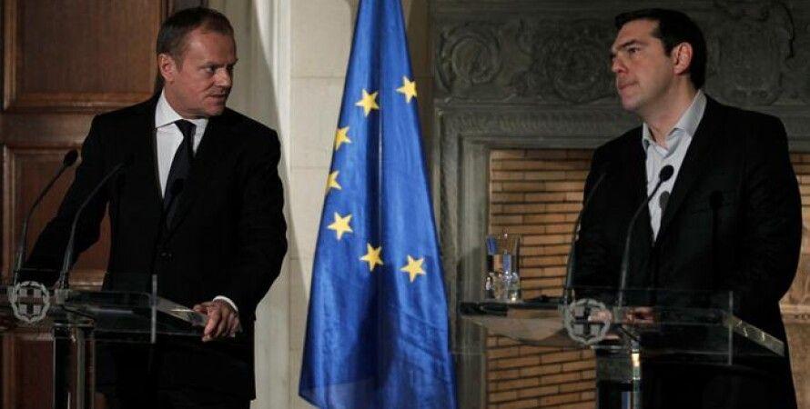 Глава Евросовета Дональд Туск и премьер-министр Греции Алексис Ципрас / Фото: Picture Alliance/dpa