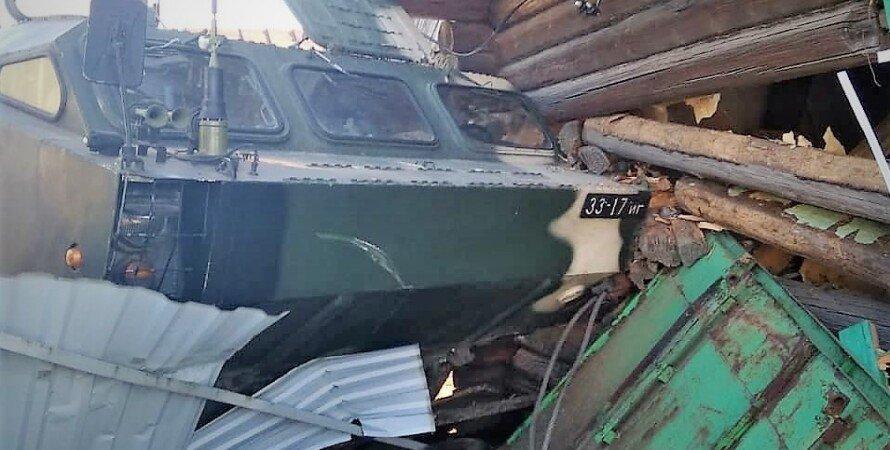 инцидент в беларуси, точка-у в дом врезалась