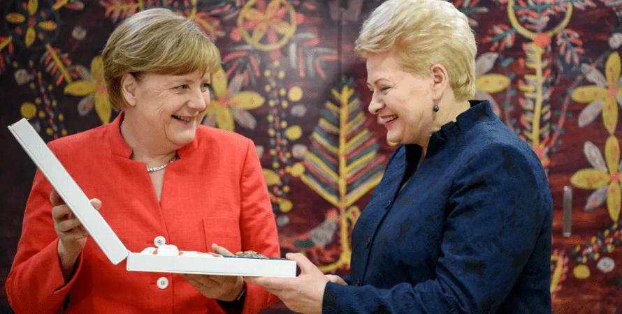 Меркель и Грибаускайте, грибаускайте, меркель, ангела меркель, грибаускайте, путин, ес, саммит ес, литва, россия, фрг