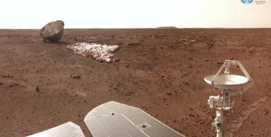 марсоход Чжуронг, Марс, поверхность, снимки