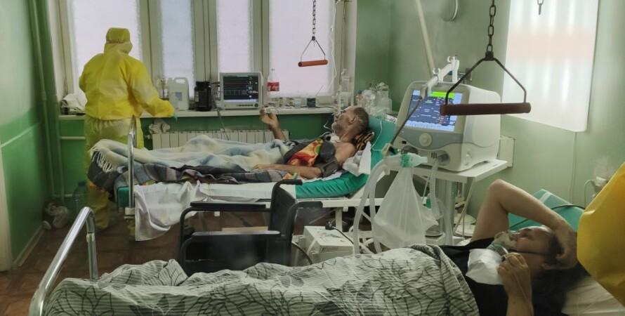 коронавирус, украина, больница, люди