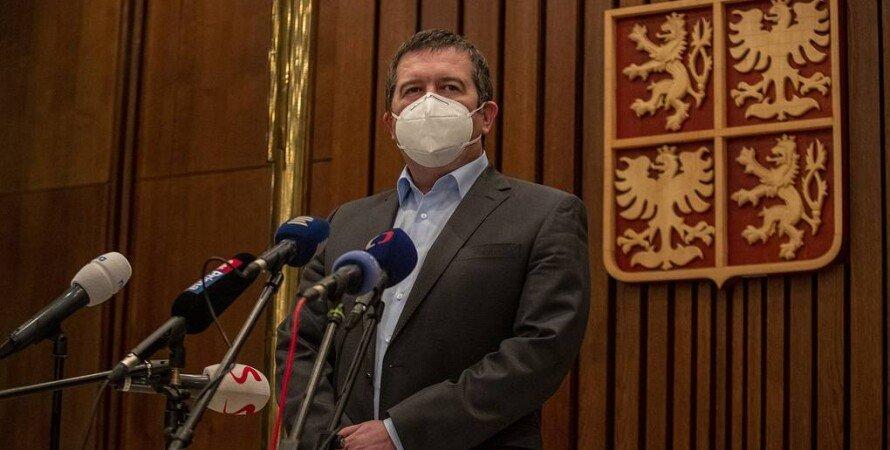 Ян Гамачек, Чехия, Россия, Дипломатический скандал,