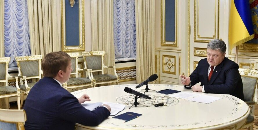 Петр Порошенко и Андрей Коболев / Фото: president.gov.ua