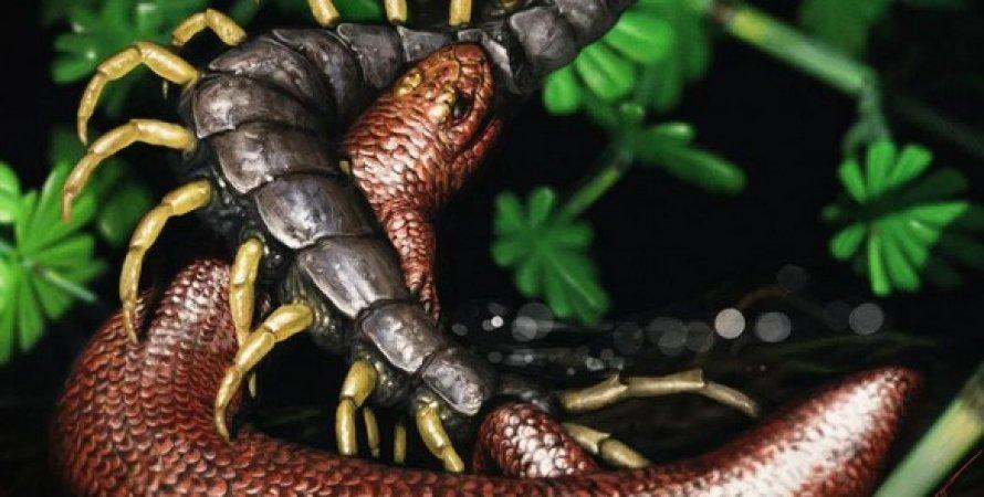 древняя рептилия