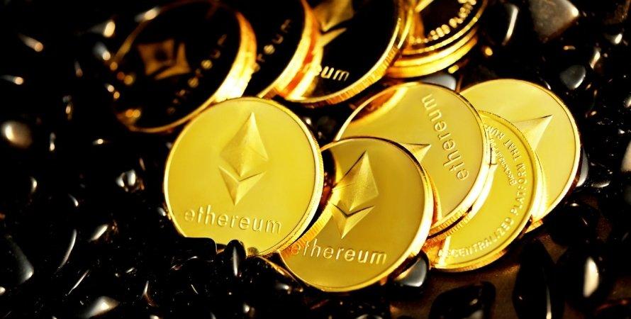 Ethereum, криптовалюта, коины, монеты
