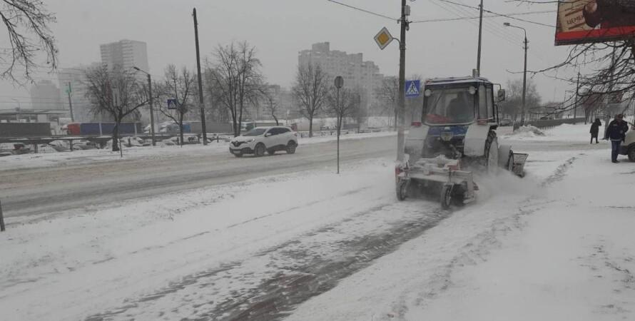 снег, улицы, очистка, фото, автомобили, погода, прогноз, укргидрометцентр