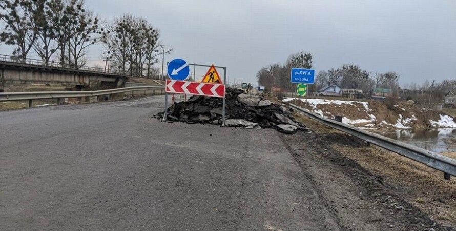 на волыни обрушился мост, инцидент на волыни, обрушение дороги