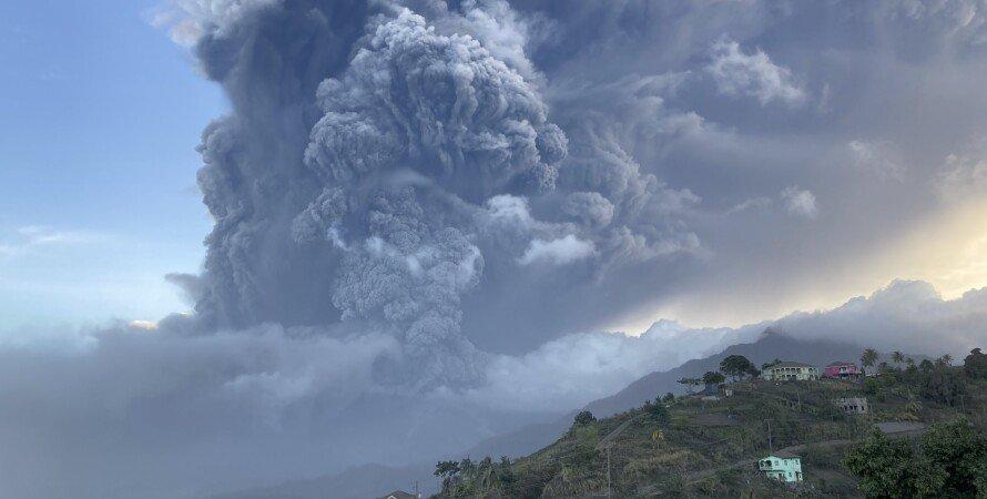 Извержение вулкана, Ла-Суфриер, сент-винсент