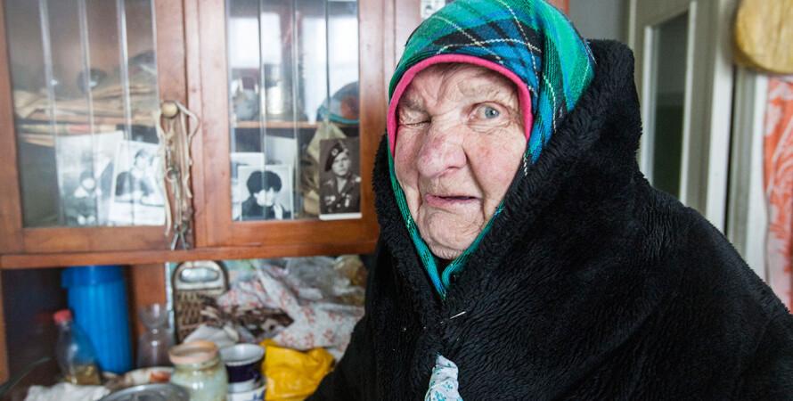 Жительница Опытного, которая не смогла выйти на улицу за продуктами. Гуманитарку ей принесли домой