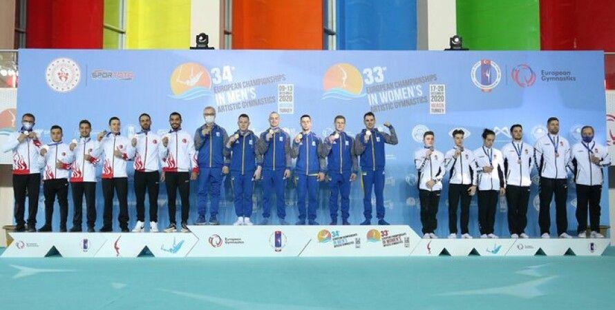 Спортивная гимнастика, Чемпионат Европы, Турция, Медали Сборная Украины