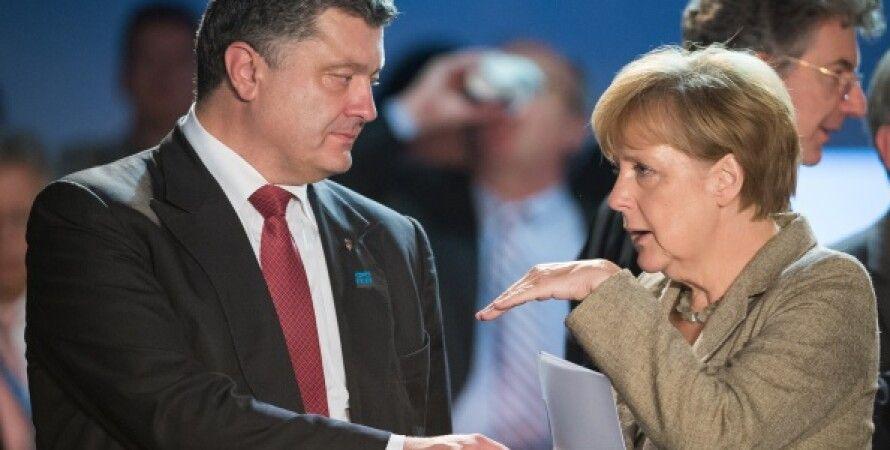 Петр Порошенко и Ангела Меркель / Фото: Getty Images