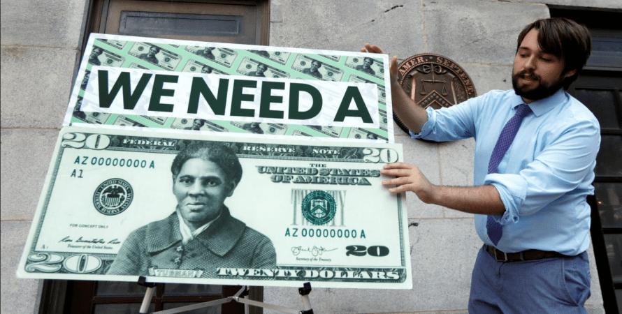 США, купюра, банкнота, доллары, макет, Харриет Табман, казначейство