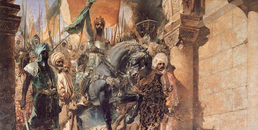 """""""Вступление Мехмеда II в Константинополь"""" , картина французского художника XIX века Жан–Жозефа Бенжамен–Констана"""