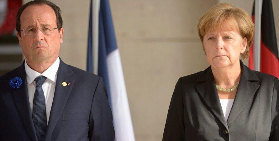 Франсуа Олланд и Ангела Меркель / Фото: Global Look Press
