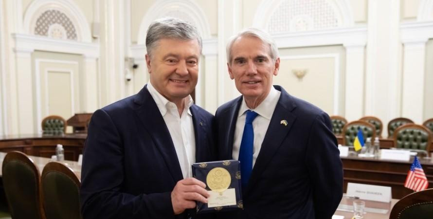 Петр Порошенко, Роб Портман, встреча депутатов с сенаторами