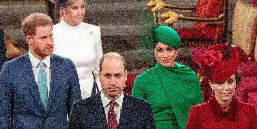 Кейт Миддлтон, Меган Маркл, принц Уильям, принц Гарри