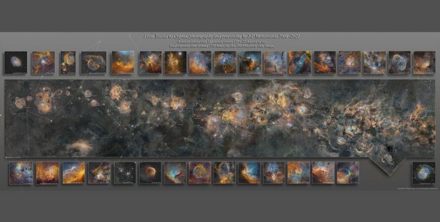 Млечный путь, мозаика, космос