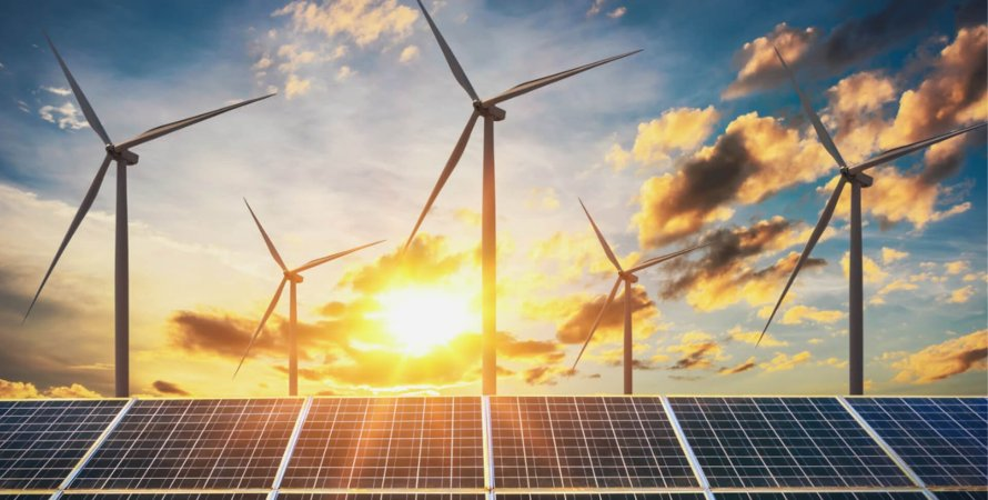 солнечная энергетика, небо, солнце, солнечные батареи