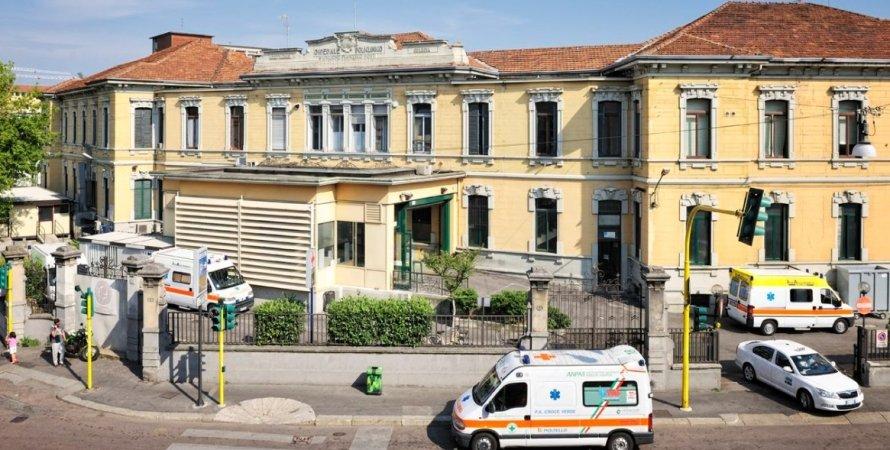 Мила, Италия, клиника, пандемия коронавируса