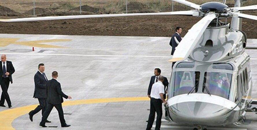 Вертолет Януковича / Фото: INTV