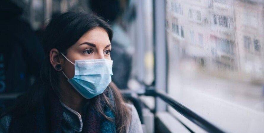 коронавирус, covid-19, зонирование, пандемия, адаптивный карантин, женщина, автобус