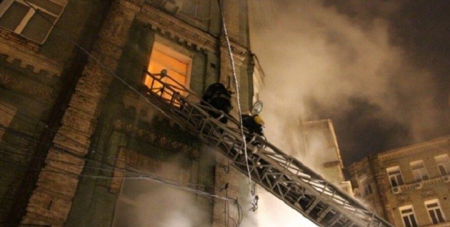 Пожар в Киеве / Фото: ГСЧС