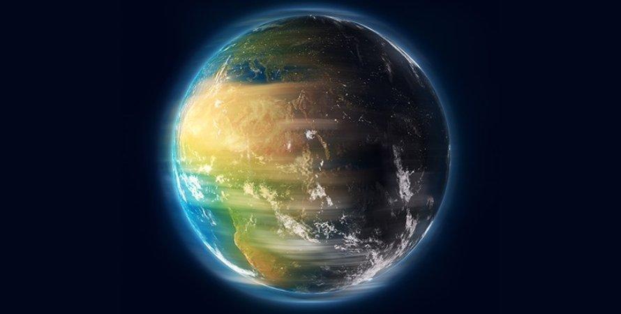 Земля, вращение, космос, фото