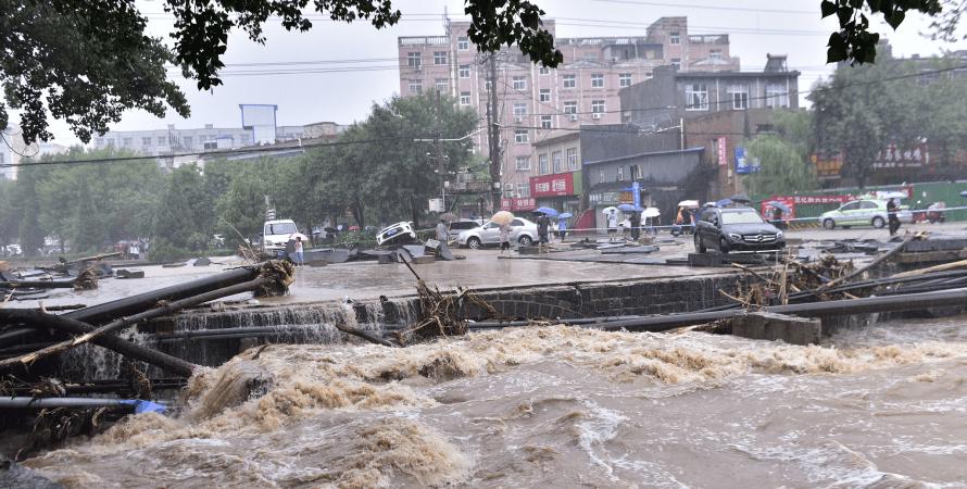повінь, китай, дощі, фото