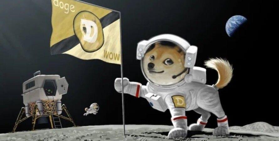 Dogecoin, Луна, SpaceX, Илон Маск