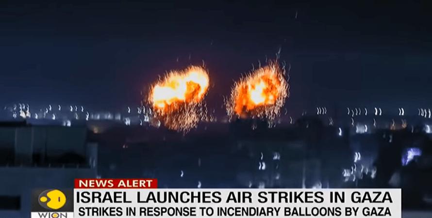 обстрел, израиль, сектор газа, фото