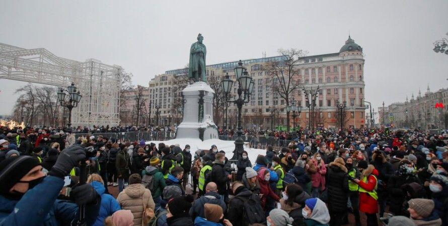 протесты в питере, протесты в поддержку навального