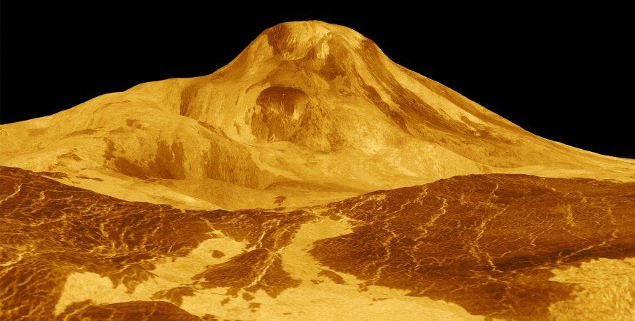 Венера, вулканы, иллюстрация