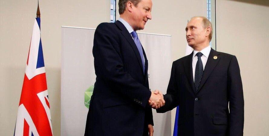 Дэвид Кэмерон и Владимир Путин / Фото: Twitter