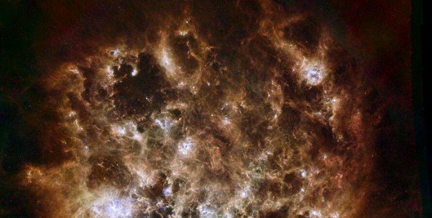 Большое Магелланово Облако в инфракрасном диапазоне. NASA