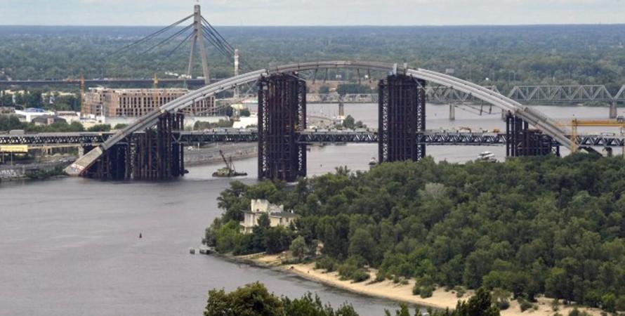 Киев, Подольский мост, Днепр,