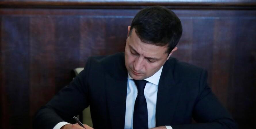 Владимир Зеленский, подпись, санкции
