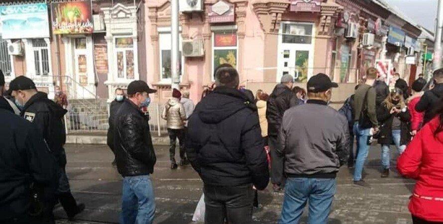 протесты в Запорожье, протест против ограничений, карантинный протест