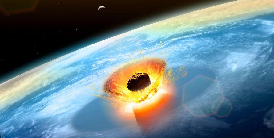 удар, астероїд, Земля, космос