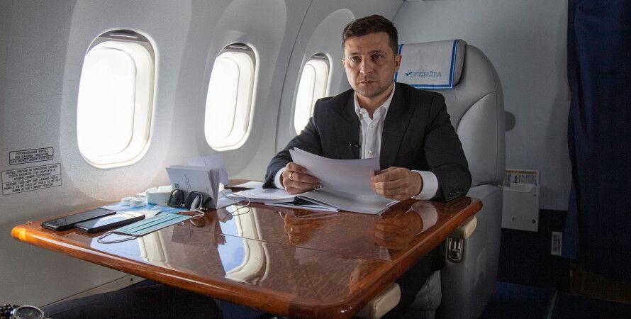 зеленский, владимир зеленский, самолет, офис президента, визиты