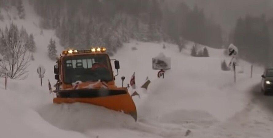 снігопад в Німеччині, негода, транспортний колапс