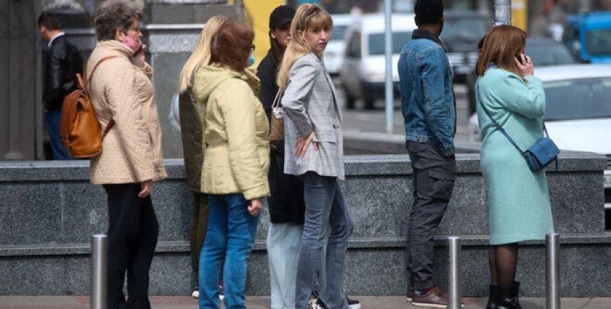 Київ на карантині, жовта зона, червона зона, люди, вулиця