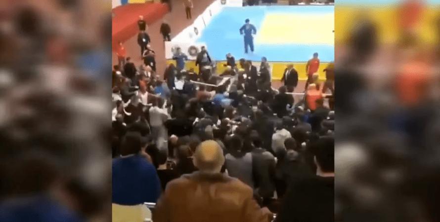 массовая драка в дагестане, драка в россии
