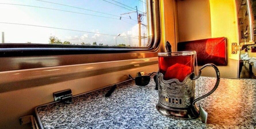 Укрзализныця, чай, подстаканники, железная дорога, чай в купе