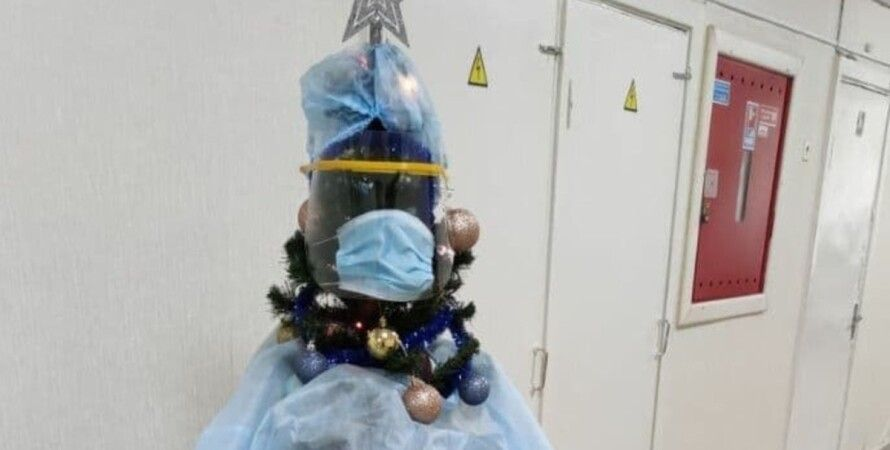 елка, коронавирус, больница