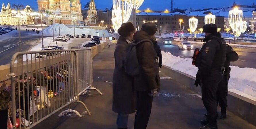 Борис Немцов, полиция, волонтеры, мемориал, Москва