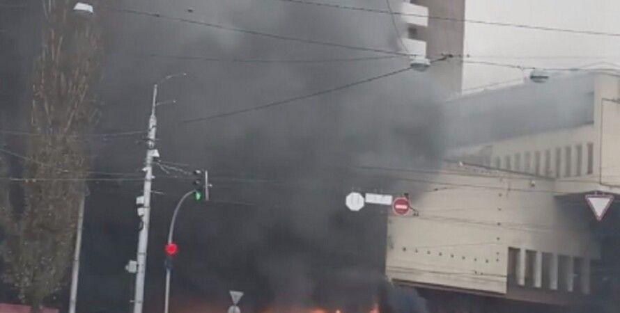 пожар, Киев, отель Экспресс
