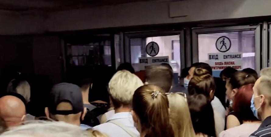 контрактовая площадь, толпа, давка, киевский метрополитен